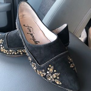 Free People Suede Jeweler flats